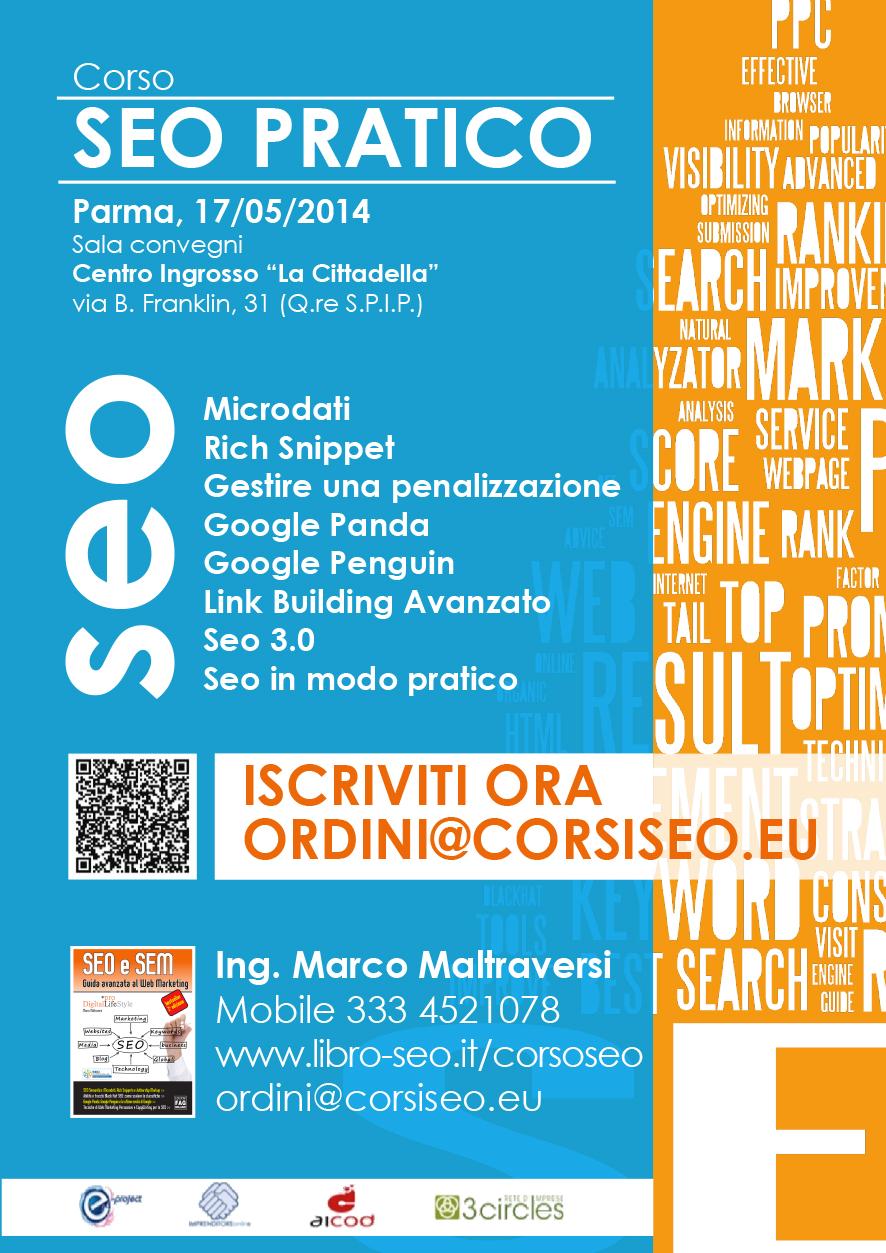 SEO Web Marketing Experience 2013 = Lo Storico Corso Italiano Adesso In Diretta Da Italia, Corso-seopratico