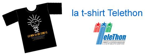 maglietta telethon